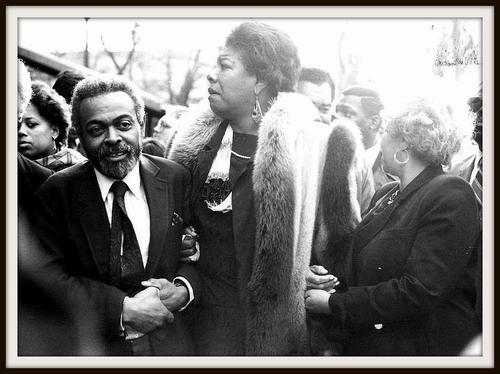 angelou, morrison and baraka at james baldwins funeral
