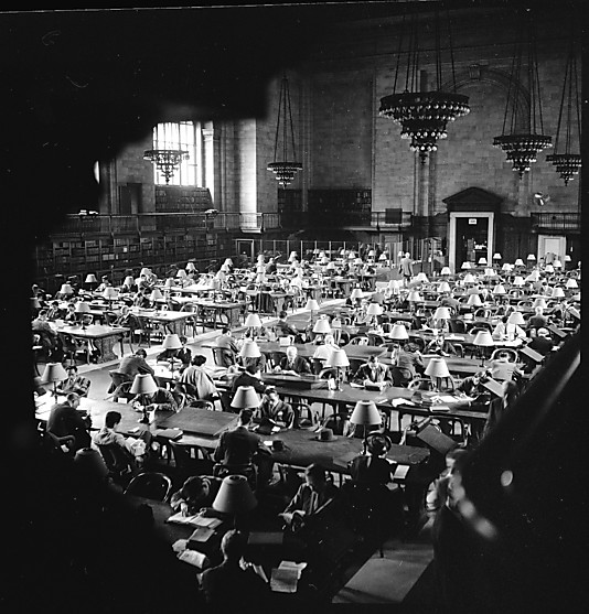 Walker Evans NYPL Reading Room