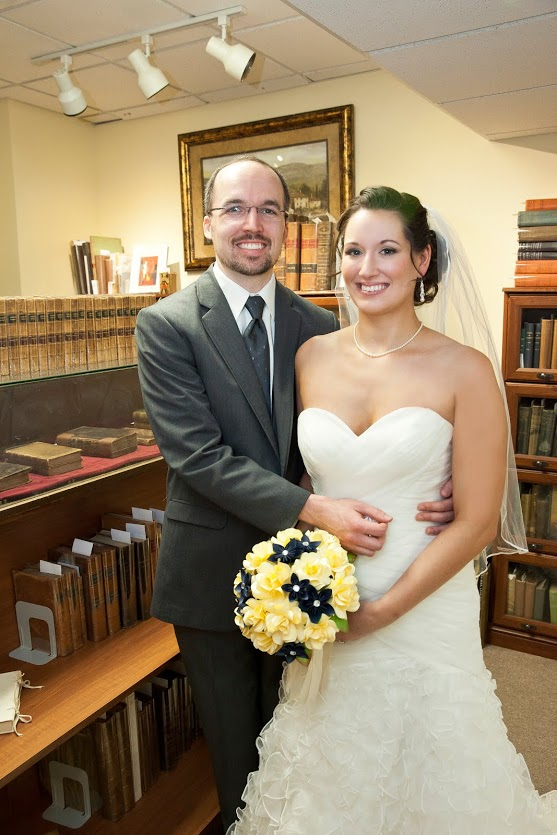 bookstore wedding