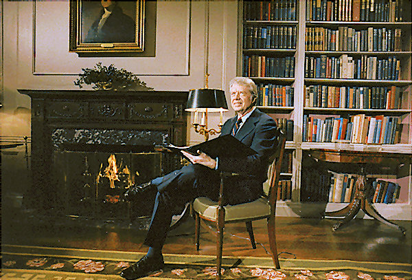 white-house-library Carter