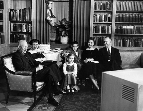 white-house-library Eisenhower family