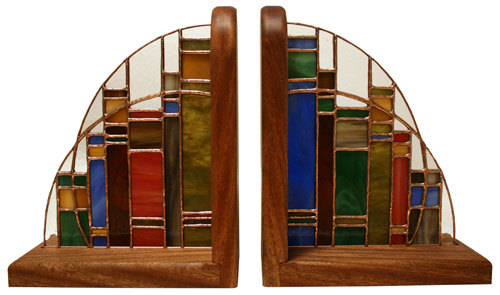 stained glass bookends