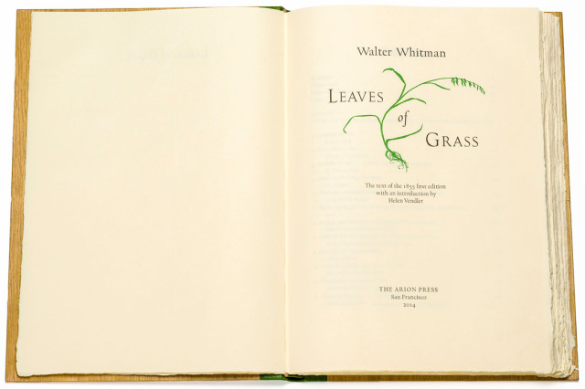 arion leaves of grass title page