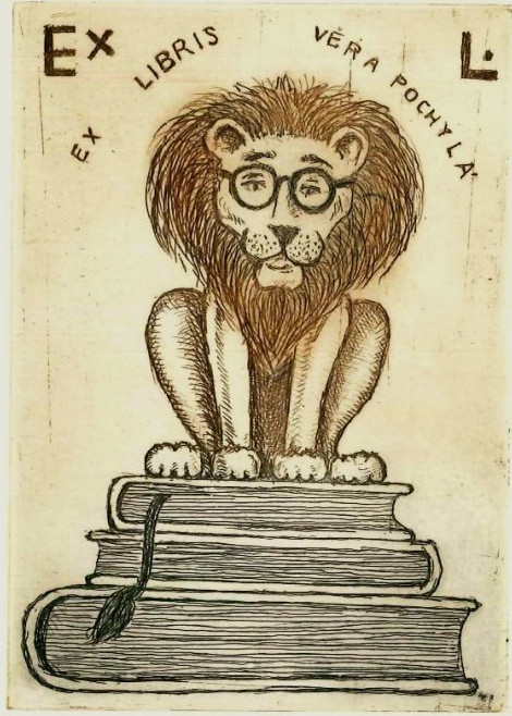 sliva bookmark lion