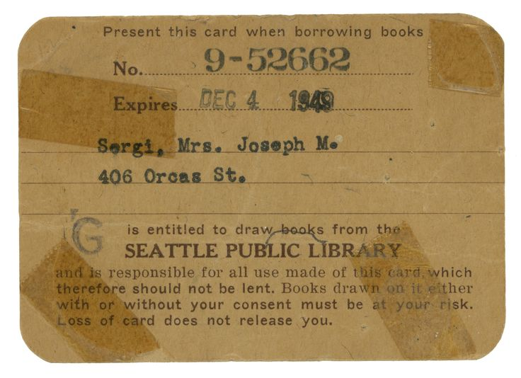 Spl Library Card Old  Book Patrol