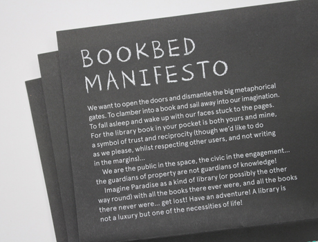 Book Bed Ruth Beale manifesto