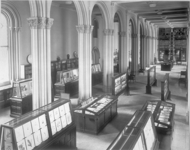 Graphic Arts Exhibit in Smithsonian Institution Building, 1921