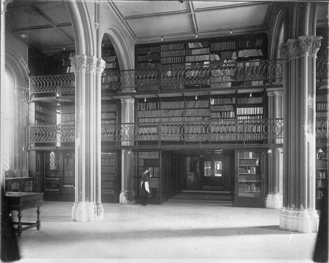 Library, Lower Main Hall, Smithsonian Institution Building 1914