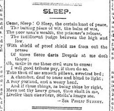 poetry in newspaper sleep