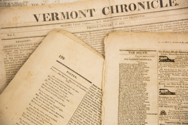 poetry in newspaper vermont chronicle