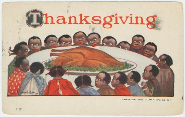 Thanksgiving Bernhardt Wall pcard