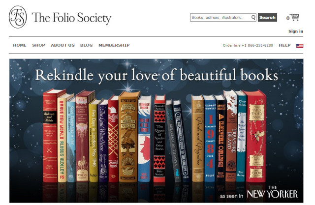folio society screenshot
