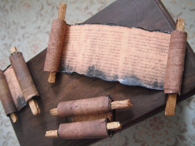 l delaney miniature scrolls