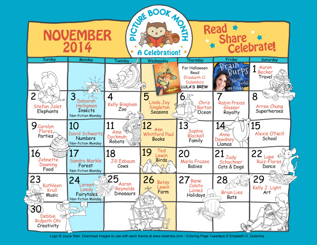 Calendar Monthly Themes : November is picture book month patrol a haven for