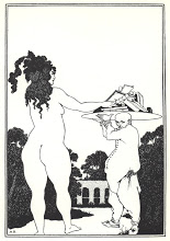Beardsley bookplate for herbert j. pollitt