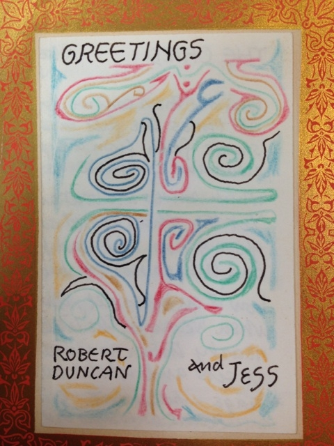 Poets House exhibition Card by Robert Duncan and Jess, 1965
