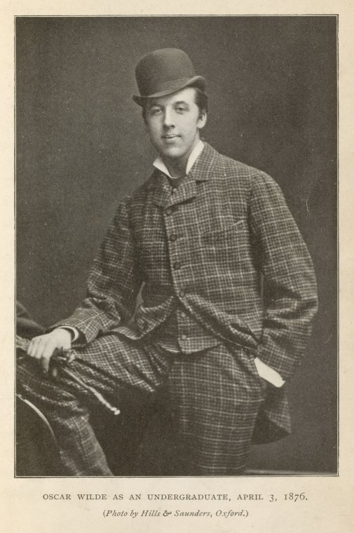 Wilde as an undergraduate, April 3, 1876.