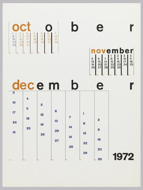 Calendars 1972