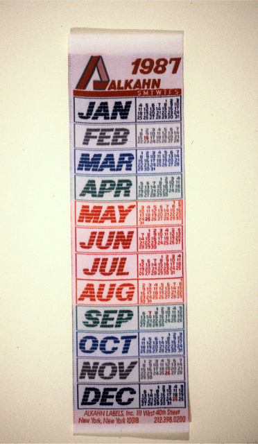 Calendars Alkahn Labels 1987
