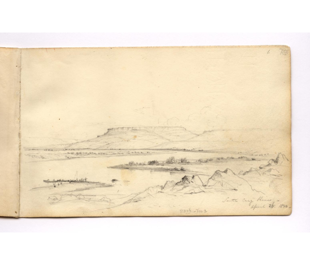HMS Beagle sketchbook Santa Cruz River