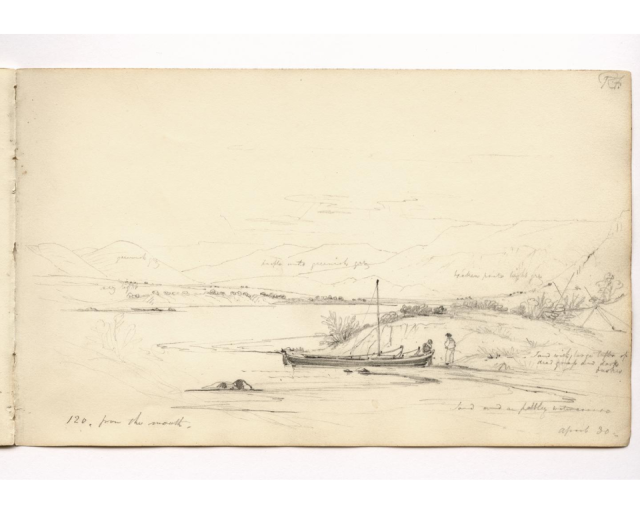 HMS Beagle sketchbook Santa Cruz River a