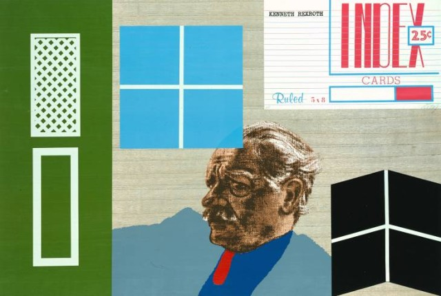 Kenneth Rexroth 1966-70 by R.B. Kitaj 1932-2007