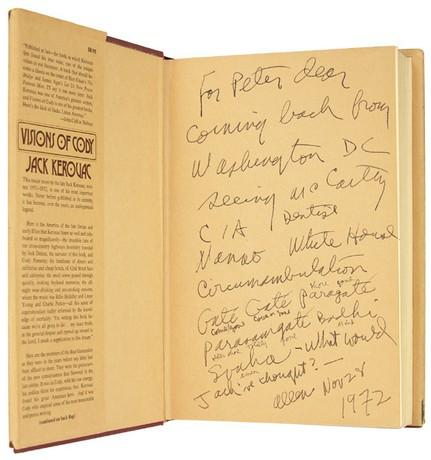 Visions of Cody inscribed by Ginsberg